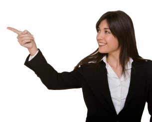 Woman Pointing to All inclusive Subscriptions for Legal forms